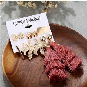 ‼️NEW‼️6 Pair Set Earrings Studs and Tassel Drop